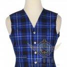 Men's Scottish Ramsey Blue VEST 5 Buttons Vest Acrylic Tartan Vest - Wedding Vest