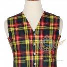 Men's Scottish Buchanan VEST 5 Buttons Vest Acrylic Tartan Vest - Wedding Vest