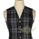 Men's Scottish Grey Watch VEST 5 Buttons Vest Acrylic Tartan Vest - Wedding Vest