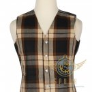 Men's Scottish Rose Ancient Tartan VEST 5 Buttons Vest -Wedding Vest