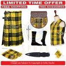 Men's Scottish Traditional 8 Yard Macleod Of Lewis TARTAN KILTS Package - 9 Accessories