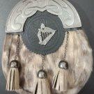 Scottish Lady Harp KILT SPORRAN Seal Skin With Free Belt & Chain