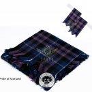 Scottish Traditional Pride of Scotland Tartan Kilt FLYPLAID + Brooch & Flashes- Flyplaid 48 X 48