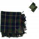 Scottish Macleod of Harris Tartan Kilt FLYPLAID + Brooch & Flashes- Flyplaid 48 X 48