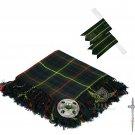 Scottish Traditional Hunting Stewart Tartan Kilt FLY PLAID + Brooch - Flashes - Kilt pin