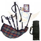 BAGPIPES Highlander Scottish IRN BRU Rosewood With Tutor Book Carry Bag Practice Chanter