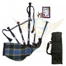 BAGPIPES Highlander Scottish Anderson Rosewood With Tutor Book Carry Bag Practice Chanter