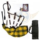 BAGPIPES Highlander Scottish Macleod of Lewis Rosewood With Tutor Book Carry Bag Practice Chanter
