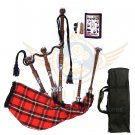 BAGPIPES Highlander Scottish MacGregor Rosewood With Tutor Book Carry Bag Practice Chanter