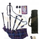 BAGPIPES Highlander Scottish Pride of Scotland Rosewood With Tutor Book Carry Bag Practice Chanter