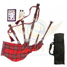BAGPIPES Highlander Scottish Royal Stewart Rosewood With Tutor Book Carry Bag Practice Chanter