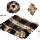 Scottish Rose Ancient Tartan Kilt FLY PLAID + Brooch- Flashes - Kilt pin -Tam Hat