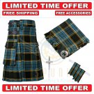Scottish Anderson Tartan Utility Kilts For Men With Accessories - Size 38