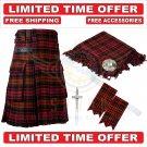 Scottish MacDonald Utility Kilt For Men With Free Accessories