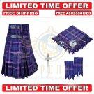 Scottish Masonic Tartan Utility Kilt For Men With Free Accessories - Size 56