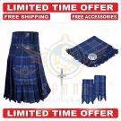 Scottish Spirit of Scotland Tartan Utility Kilt For Men With Free Accessories -