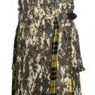 Scottish Men's Digital Camo Utility Hybrid Macleod of Lewis Tartan Under Pleated kilts - Size 32