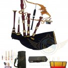 GREAT HIGHLAND SCOTTISH BAGPIPES Brass ENGRAVED MOUNTS BAGPIPES FREE HARD CASE