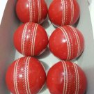 Leather cricket Hard Ball Handmade Red Ball Premium Quality For professionals pack of 6 Balls