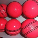 Leather cricket Hard Ball Handmade Pink Ball Premium Quality For professionals pack of 6 Balls