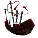 BAGPIPES Highlander Scottish Black Finish Rosewood Bagpipe with Practice Chanter