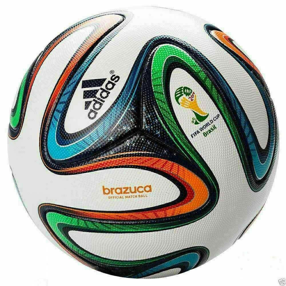 ADIDAS BRAZUCA OFFICIAL MATCH BALL FIFA WORLD CUP 2014 SOCCER BALL SIZE 5