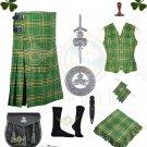 Men Scottish Irish Tartan Kilt 8 Yard Kilt 13oz Highland Casual Kilt package - Kilt Size 34