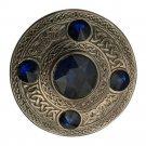 Scottish Antique Finish Celtic Purple Stone Kilt Fly Plaid Brooch 5 Stone Kilt Plaid Brooch