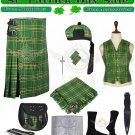 Premium Handmade Irish 8 yard kilt Traditional 8 Yard Irish Tartan kilt package