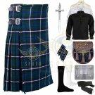 Men's Scottish Blue Douglas 8 yard kilt Traditional Blue Douglas Fabric kilt Deal Set