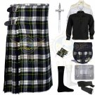 Men's Scottish Dress Gordon 8 yard kilt Traditional Dress Gordon Fabric 8 yard kilt Deal Set