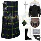 Handmade Men's Scottish Gordon 8 yard kilt Traditional Gordon Fabric 8 yard kilt Deal Set