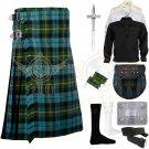 Men's Scottish Gunn Ancient 8 yard kilt Traditional Gunn Ancient Fabric 8 yard kilt Deal Set