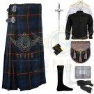 Handmade Men's Scottish Gunn 8 yard kilt Traditional Gunn Fabric 8 yard kilt Deal set