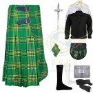 Handmade Men's Scottish Irish 8 yard kilt Traditional Irish Tartan Fabric 8 yard kilt Deal Set