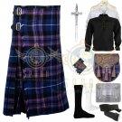 Scottish Pride Of Scotland 8 yard kilt Traditional Pride Of Scotland Tartan kilt Deal Set