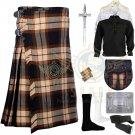 Scottish Rose Ancient 8 Yard kilt Traditional Rose Ancient Tartan Fabric 8 yard kilt Deal Set
