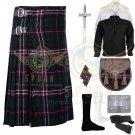 Men's Scottish National 8 Yard kilt Traditional Scottish National Fabric 8 yard kilt Deal Set