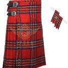 Scottish Royal Stewart 8 Yard KILT Royal Stewart Fabric 8 Yard KILT with Flashes