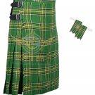 Men's Scottish Irish 8 Yard KILT Irish Fabric 8 Yard KILT with Flashes
