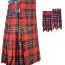 Men's Scottish Macgregor 8 Yard KILT Macgregor Fabric 8 Yard KILT with Flashes