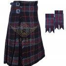 Scottish  Spirit of Bruce 8 Yard KILT Bruce Fabric 8 Yard KILT with Flashes