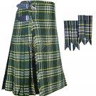 Scottish  S-t Patrick 8 Yard KILT St Patrick Fabric 8 Yard KILT with Flashes