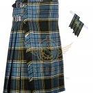 Men's Scottish Anderson 8 Yard KILT Anderson Fabric 8 Yard KILT with Flashes