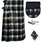 Men's Scottish Dress Gordon 8 Yard KILT 13 Oz 8 yard Kilts Tartan Kilt Sporran & Flashes