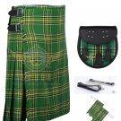 Scottish Irish 8 Yard KILT 13 Oz 8 yard Kilts Irish Tartan Kilt Sporran & Flashes