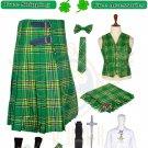 Men's 8 yard kilts Traditional 8 Yard Irish Tartan kilt package - St Patrick Day - Waist 52