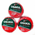 Osaka PVC Tape Roll Cricket Tennis RED Packet 8 Mil x 18mm x 10yds Pack of 12