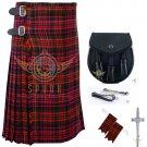 Men's Scottish MacDonald 8 Yard KILT - Sporran - Flashes - kilt Pin Waist 38