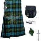 Men's Scottish Gunn Ancient 8 Yard KILT - Sporran Traditional 8 yard kilt - Flashes - kilt Pin
